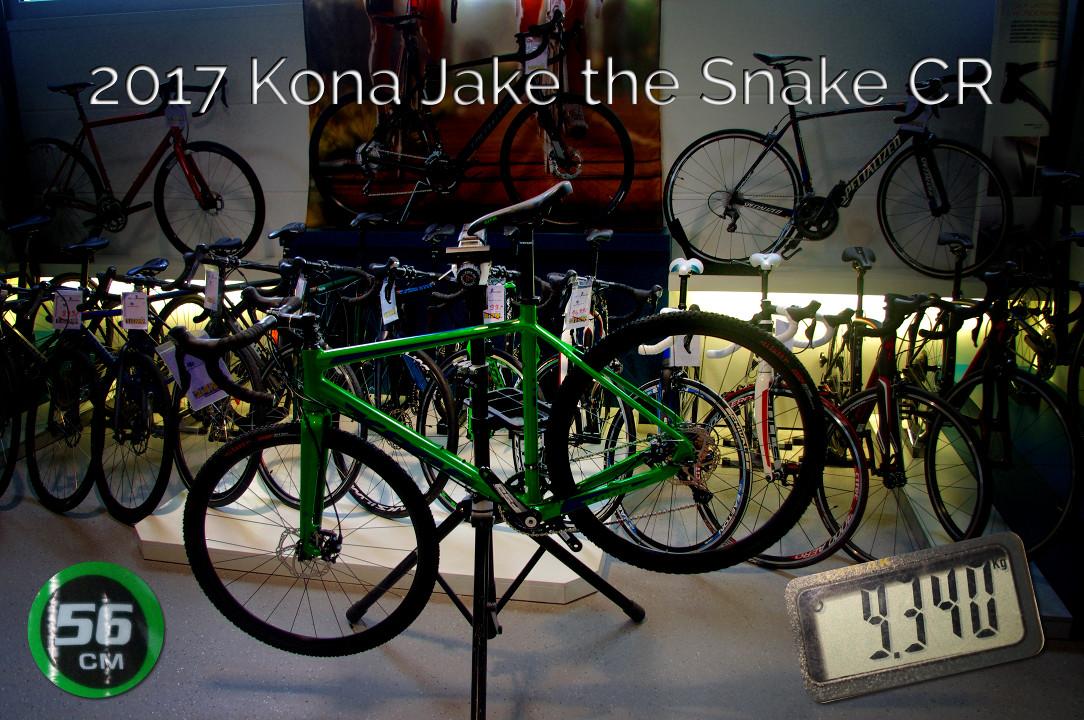 2017 Kona Jake the Snake CR auf der Waage mit einem Gewicht i.H.v. 9340g