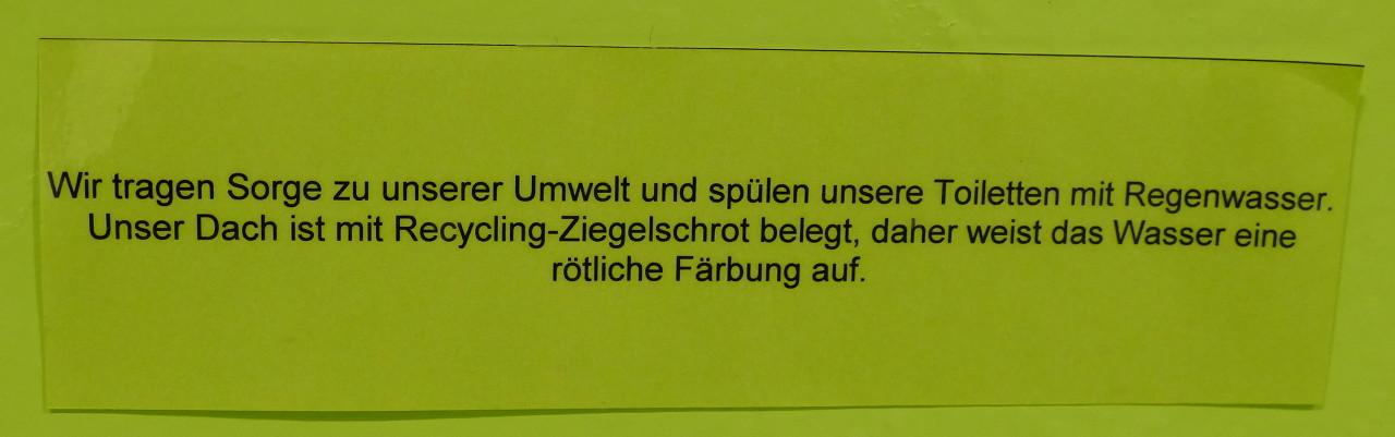 Flyer Werk Huttwil - Toilettenspülung mit Regenwasser
