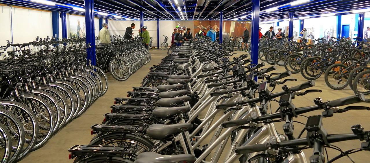 Testfuhrpark Pedelecs und E-Bikes der Firma Flyer