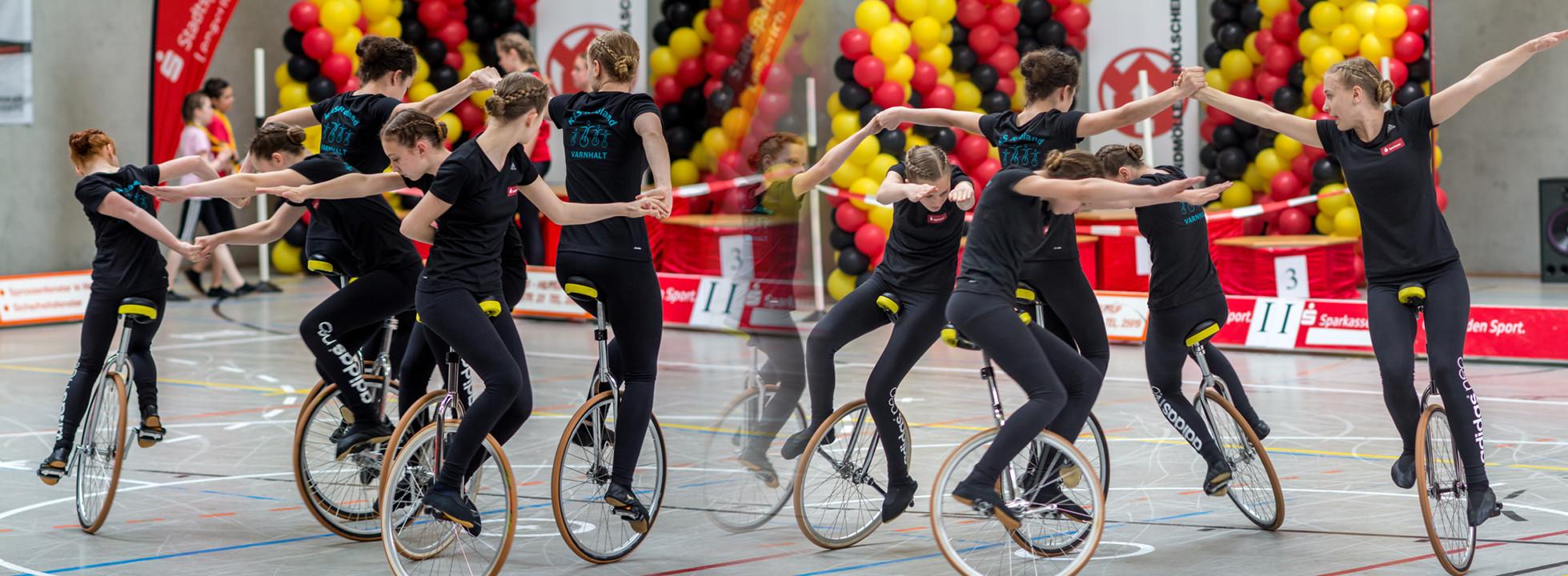 Deutsche Vize-Meister Einrad 6er offene klasse