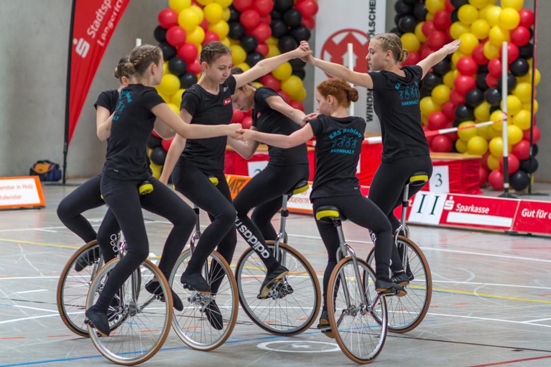 Deutsche Vize-Meister im 6er einradfahren