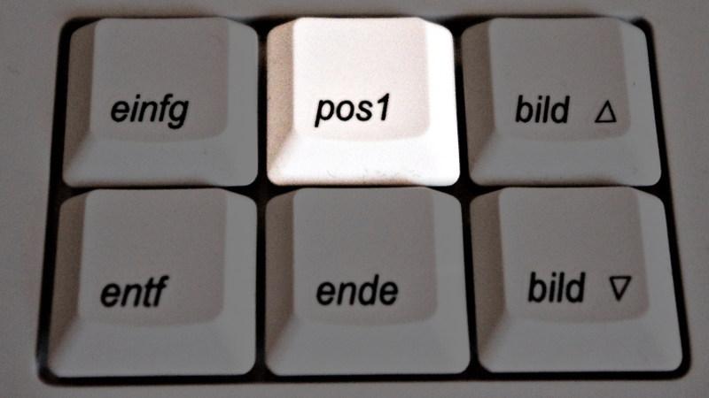 pos1 = Seitenanfang