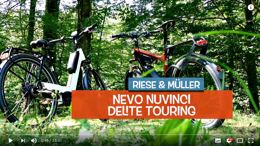 YouTube Link zu Riese & Müller Doppeltest Delite Touring